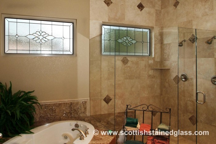 bathroom stained glass arvada